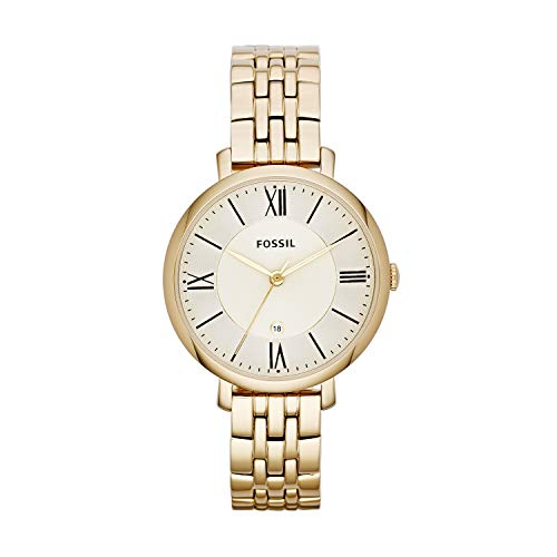 Fossil Damen Analog Quarz Uhr mit Edelstahl Armband ES3434