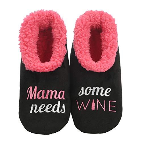 Mama Needs Some Wine Slippers