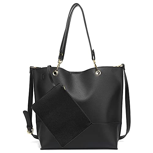 Scarleton Large Reversible Tote Bag for Women, Shoulder Bag, Black H1842208201
