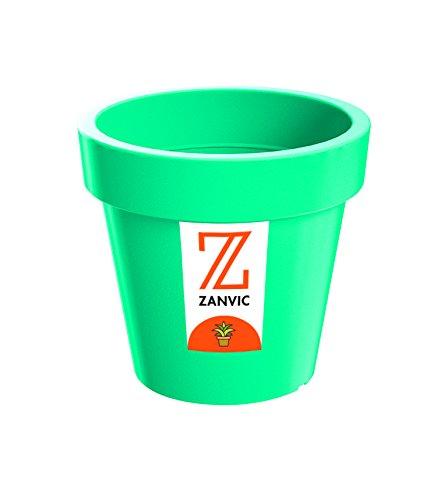 Zanvic Maceta LoFly 135, 13,5 x 12cm, Azul, 13.5x13.5x12 cm, ZA72