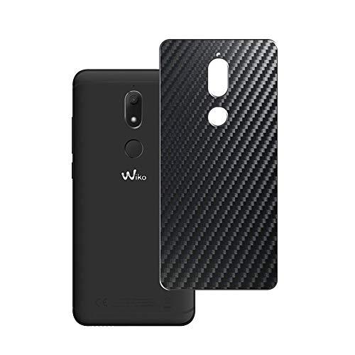 Vaxson 2 Stück Rückseite Schutzfolie, kompatibel mit Wiko View Prime 2017, Backcover Skin - Carbon Schwarz [nicht Panzerglas/nicht Front Displayschutzfolie]