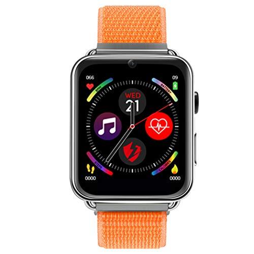 HJKPM Adulto Smartwatch, Posicionamiento GPS Reloj Inteligente Sensor De Movimiento De Precisión Incorporado Y ECG PPG Monitoreo De HRV Múltiples Funciones Inteligentes,Naranja