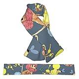 Patrón de caniches infantiles de acuarela puede bufanda linda moda gruesa suave franela cálida invierno bufandas cruzadas regalo