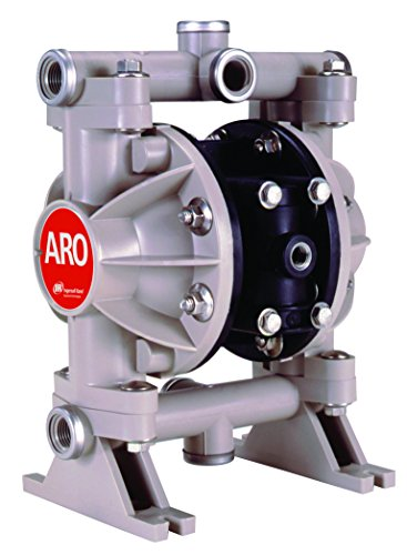ARO 66605J-344 Polypropylene PTFE Multiport Double Diaphragm Pump, 13 gpm, 100 psi