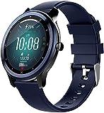 Reloj inteligente pulsera deportiva impermeable Full Touch, pantalla grande, monitor de sueño de alta definición, color negro y azul