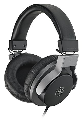 Yamaha HPH-MT7 Studio-Kopfhörer – Faltbare High End Kopfhörer mit 3 m Kabel und 6,3 mm Standard-Stereo-Adapterstecker – Schwarz