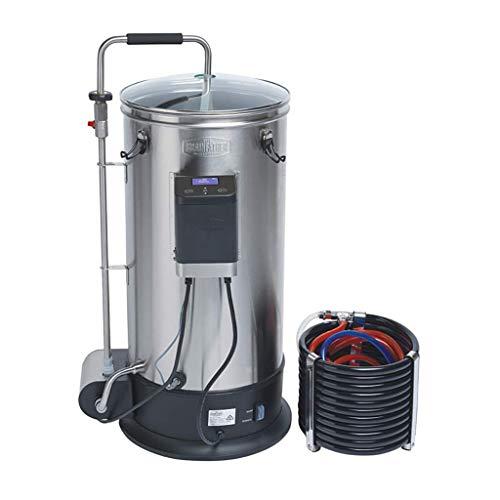 Grainfather Connect - Bierbrauanlage Edelstahl, 30 L Kapazität, kräftige Magnetpumpe, Gegenstrom-Würzekühler, kompatibel mit Grainfather Connect App, Bier brauen