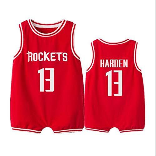 ZGRNB NBA Basketball Jersey Aficionado a los Deportes Baby Creepers Rompers Verano Kobe Bean Bryant 24 Stephen Curry 30 James Harden 13 Chicago Bulls 23 Kobe Bean Bryant 24 Allen Ezail Iverson 3