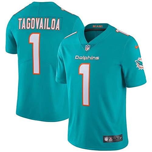 Herren T-Shirt American Football Uniform Miami Dolphins Tagovailoa #1 Football Trikots Gruby Tee Shirts Gr. M, Bild