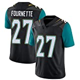Leonard Fournette 27# Jacksonville Jaguars Maillot de rugby Homme Compétition Sportswear Rugby Sports T-shirt Séchage Rapide Absorption de la transpiration -  Noir - Small