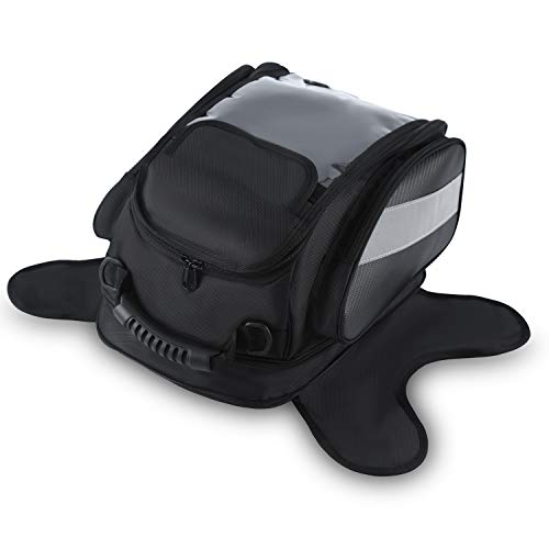 Motorcycle Tank Bag Waterproof with Strong Magnetic Motorbike Bag for Honda Yamaha Suzuki Kawasaki Harley Large