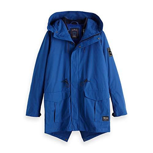Scotch & Soda Herren Parka AMS Blauw Parka Jacket 147811 Blue Summit S