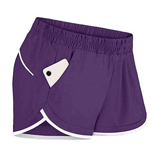 Inawayls Shorts Damen Sommer Kurze Sport Freizeithosen Mit Gummibund Mädchen Teenager Freizeit Für Running
