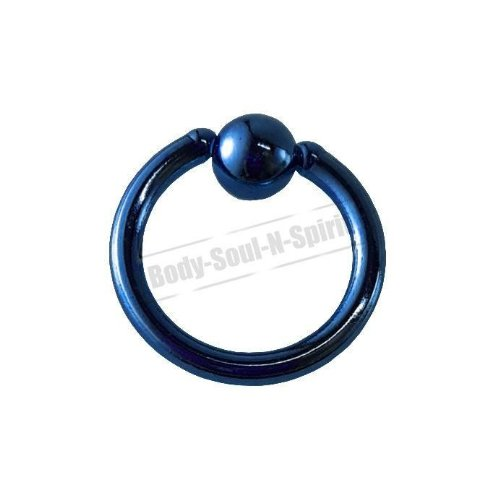 BLEU Cercle 7mm BSR Perçage corps Boule Nez Lèvre Cartilage Oreille 316L acier