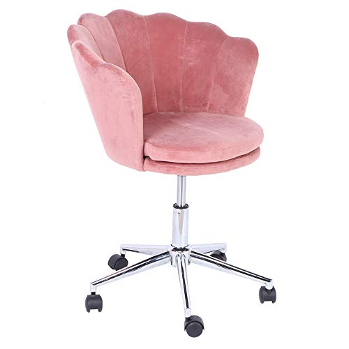 Silla giratoria con altura regulable, moderna silla de oficina, silla de oficina, silla de visita, silla de terciopelo suave con reposabrazos para oficina, dormitorio, salón