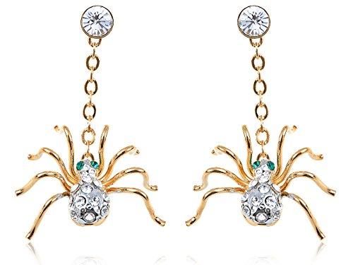 Alilang Petites boucles doreilles pendantes dorées en forme