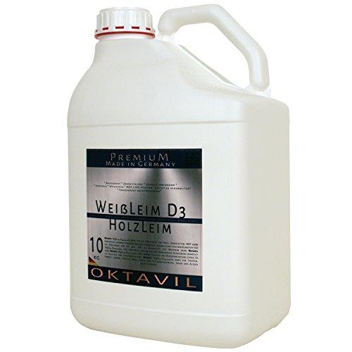 Oktavil witte lijm D3 lijm dispersielijm houtlijm waterbestendig 10 kg jerrycan houtlijm