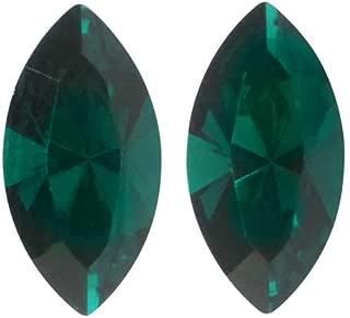 SWAROVSKI Crystal, 4228 Xilion Navette Fancy Stone 8x4mm, 2 Pieces, Emerald F