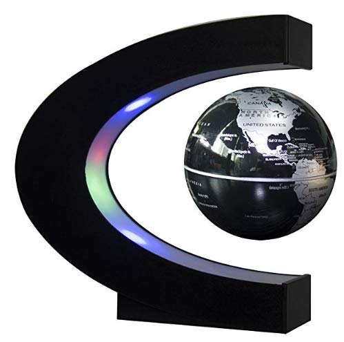 Magnetic Levitating Floating World Map Globe with LED Lights and