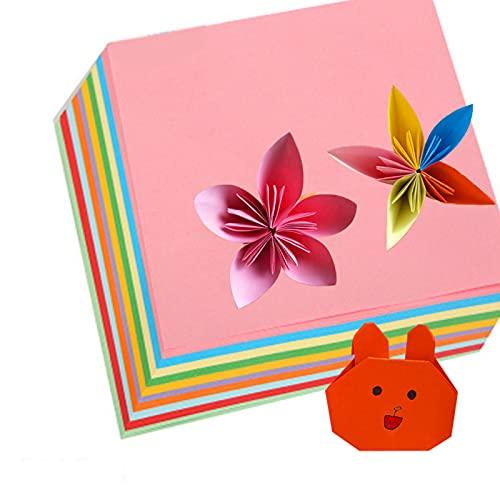 Papel para Papiroflexia 300 Color Hojas de Origami VíVido de Doble Cara Kit de Origami para NiñOs para Manualidades DIY Proyectos De Artes Y Manualidades