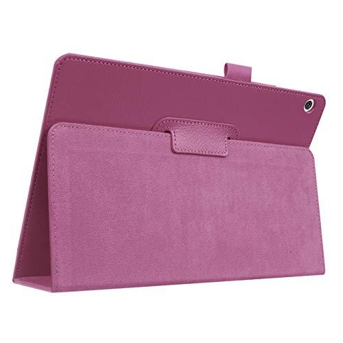 Funda para Huawei MediaPad T5 AGS2-W09 / L09 / L03 / W19 10.1' Tablet Slim Smart Funda de piel para Huawei T5 10 Funda con función atril Capa-Purple
