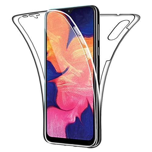 NewTop Cover Compatibile per Samsung Galaxy A10, Custodia Crystal Case TPU PC Protezione 360° Fronte Retro Full Body