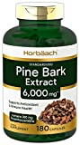 Horbaach Pine Bark Extract 6000 mg | 180 Capsules | Standardized to Contain 95% Proanthocyanidins | Non-GMO, Gluten Free Supplement