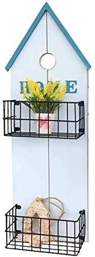 Yhtech Pared moderna planta plantador del sostenedor del soporte estante del pote Cesta colgante de almacenamiento Decoración estante de exhibición de 2 niveles contenedor for el interior del marco ex