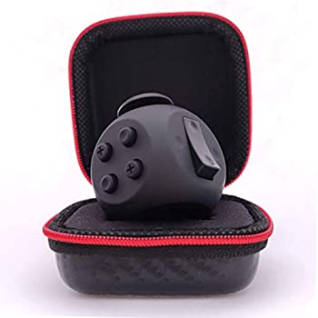 PILPOC theFube Fidget Cube - Premium Quality Fidget Cube with Exclusive Protective Case Stress Cube Stress Relieve Toy Reduce Anxiety for ADHD OCD Autism  Black