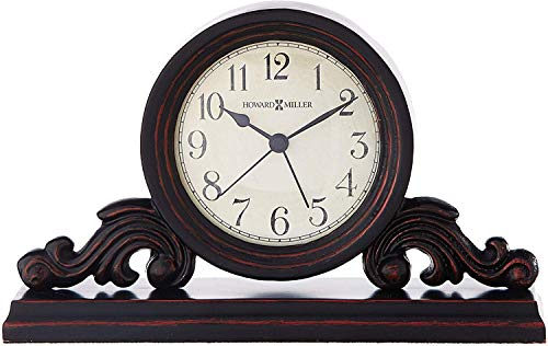 Howard Miller Bishop Table Clock 645-653 – Modern & Square with Quartz Alarm Movement