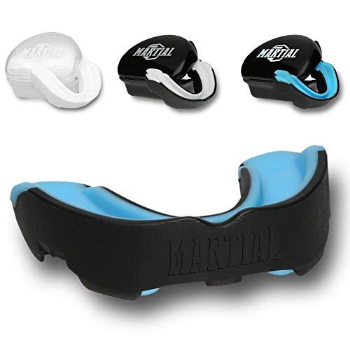 Martial Mundschutz für ideale Atmung & leicht anpassbar! Zahnschutz in verschiedenen Formen. Für Kampfsport, MMA, Boxen, Kickboxen, Hockey, Football - Erwachsene