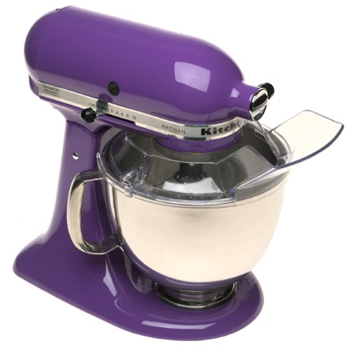 5 Qt. Stainless Steel Bowl Stand Mixer with Pouring Shield Grape