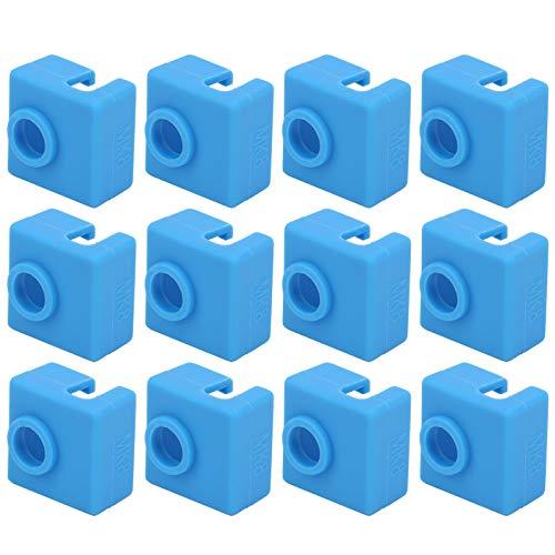 SANON 12 Stück Heizblock Silikon Socken Heizblock Abdeckung 3D-Drucker Silikongehäuse 3D-Drucker Zubehör für Mk7 / 8/9 3D-Drucker