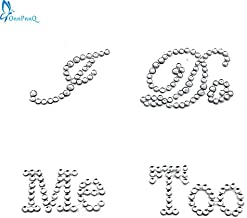 Generic 1 Set I Do Me Too Bridal Groom Shoe Sticker White Clear Rhinestone