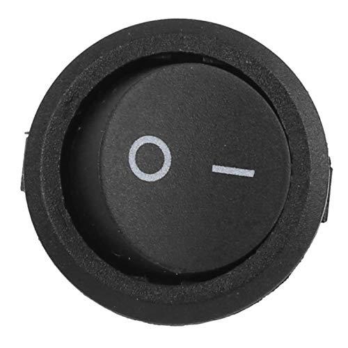 LANTRO JS - 10 piezas de 23 mm de encendido y apagado, mini interruptores basculantes de 3 pines, 2 posiciones, encendido/apagado, redondo, utilizado en bebederos