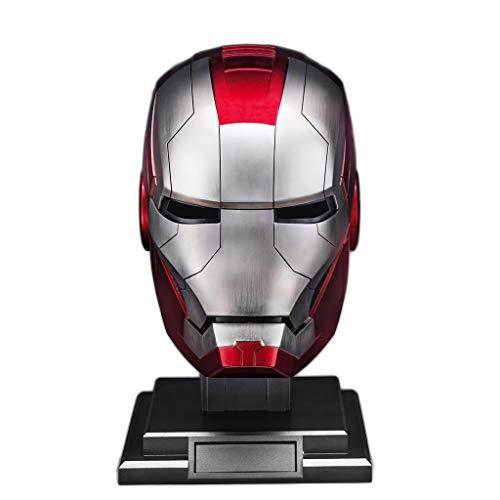 nihiug Superhéroe 1: Apertura eléctrica 1 Iron Man MK5 Armadura Casco y Cerrando portátil de colección Real sin Partido de Base de Disfraces de Halloween,Gold-OneSiz