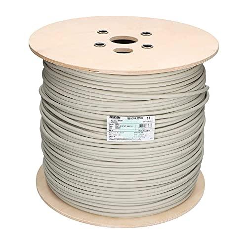 Venton Belden Cat 7 kabel 10 m I nätverkskabel 1000 MHz – installationskabel S/FTP skärmad I LAN-kabel 10 Gbit Ethernet I 23 AWG kopparledare med polyetenisolering I RoHs – LSZH datakabel grå