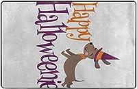 ハッピーハロウィンスーパーソフトインドアモダンエリアラグふわふわラグダイニングルームホームベッドルームカーペットフロアマットベビーキッズ犬猫80x58インチ-80x58インチ