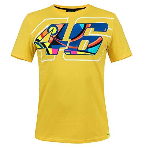 Valentino Rossi VR46 - Camiseta para hombre, diseño de casco de casco amarillo + azúcar de uva Fanergy, Hombre, amarillo, extra-large