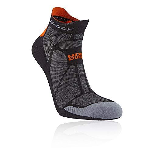 Hilly Routes pour Homme Ultra Marathon Fresh Chaussettes de Course Petit Black//Grey//Lime Green