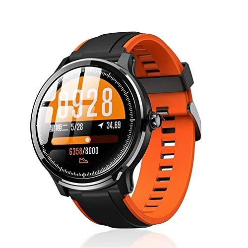 Xingyu - Reloj inteligente para hombre, resistente al agua, pantalla táctil de 1,3', color naranja