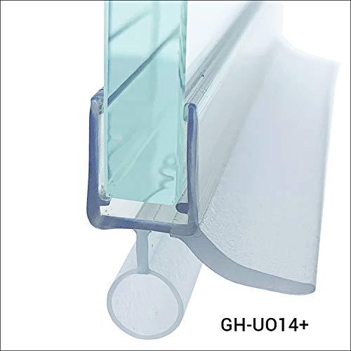 Glass House Duschdichtung für Duschkabine Dichtung für Glas mit einer Dicke von 6-8mm Länge 100cm,hergestellt aus hochwertigem, feuchtigkeits und schimmelbeständigem Silikon, GH-UO14+.