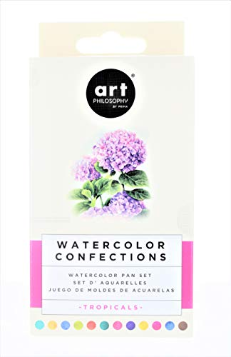 Prima Marketing 584269 Prima Watercolor Confections Watercolor Pans44; Pack of 12-Tropicals