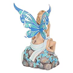 Nemesis Now Jewelled Fairy Sapphire 19cm Figurine, Resin, Blue #3