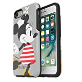 OtterBox Symmetry Series Disney Classics Case for iPhone SE (2nd gen - 2020) and iPhone 8/7 (NOT Plus) - Retail Packaging - Minnie Stripes (Black/Minnie Stripe Graphic)