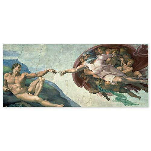 JUNIWORDS Poster, Michelangelo di Lodovico Buonarroti Simoni, Die Erschaffung Adams, Sixtinische Kapelle, 225 x 100 cm