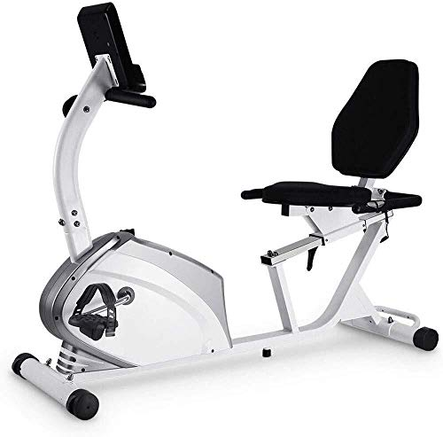 Discover Bargain LAOHAO Horizontal Exercise Bike Silent Home Magnetic Control Indoor Fitness Trainin...