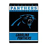 NORTHWEST NFL Carolina Panthers Raschel Throw Blanket, 60' x 80', 12th Man