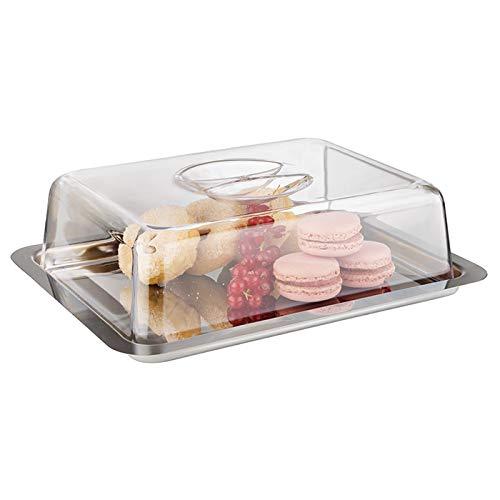 APS 00067 Foodbox circa 25 x 19cm, Haubenaltezza 7cm, Acciaio inossidabile, confezionati singolarmente con cappuccio, con inserti a colori