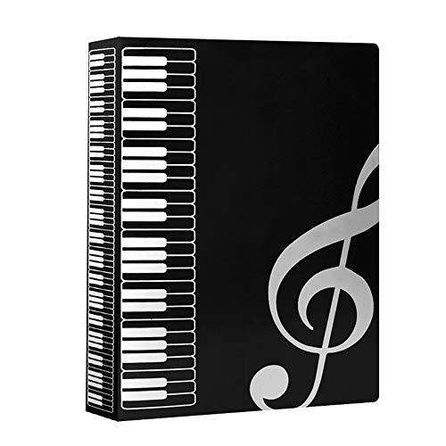 IWILCS Musikordner, Ordnungsmappe, ordnungsmappe schwarz, ordnungsmappe a4, Musik ordnungsmappe, Notenblatthalter, ordnungsmappe leitz, für Notenblatt Datei Papier Dokumente (schwarz)